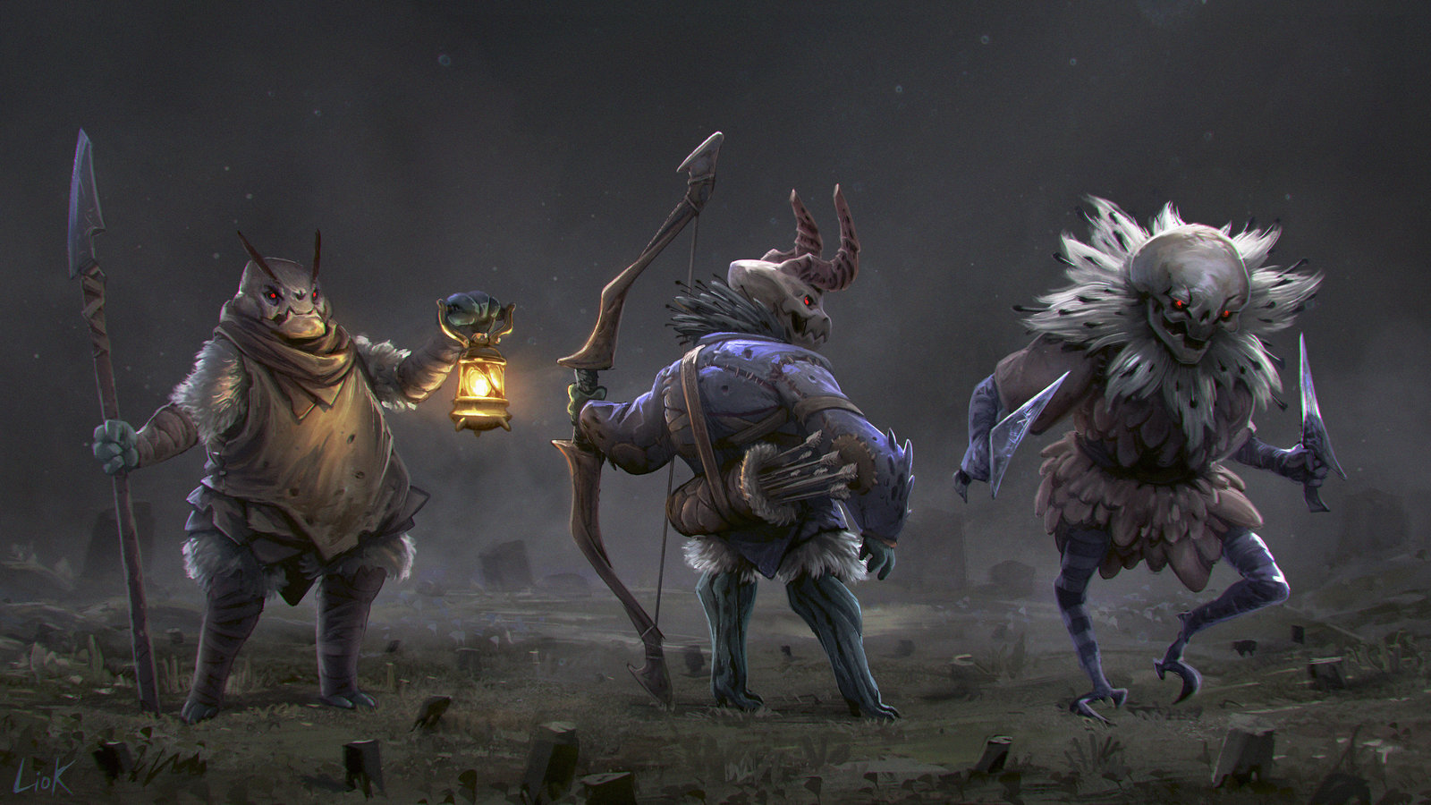 Onyx forest creatures