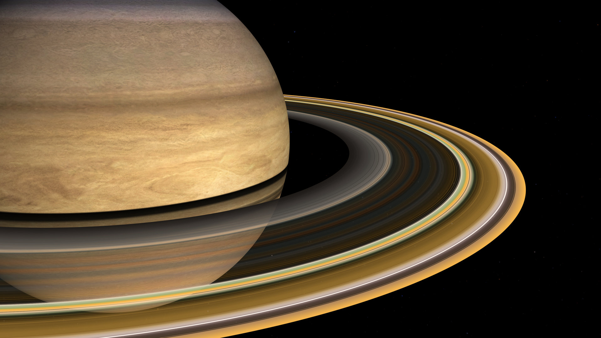 Saturn is the sixth planet from the Sun and is the second largest in the solar system with an equatorial diameter of 119300 km Saturn is visibly flattened at the