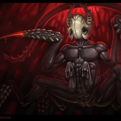 Travis lacey faceless concept creature art conceptual 2d digital horror scary