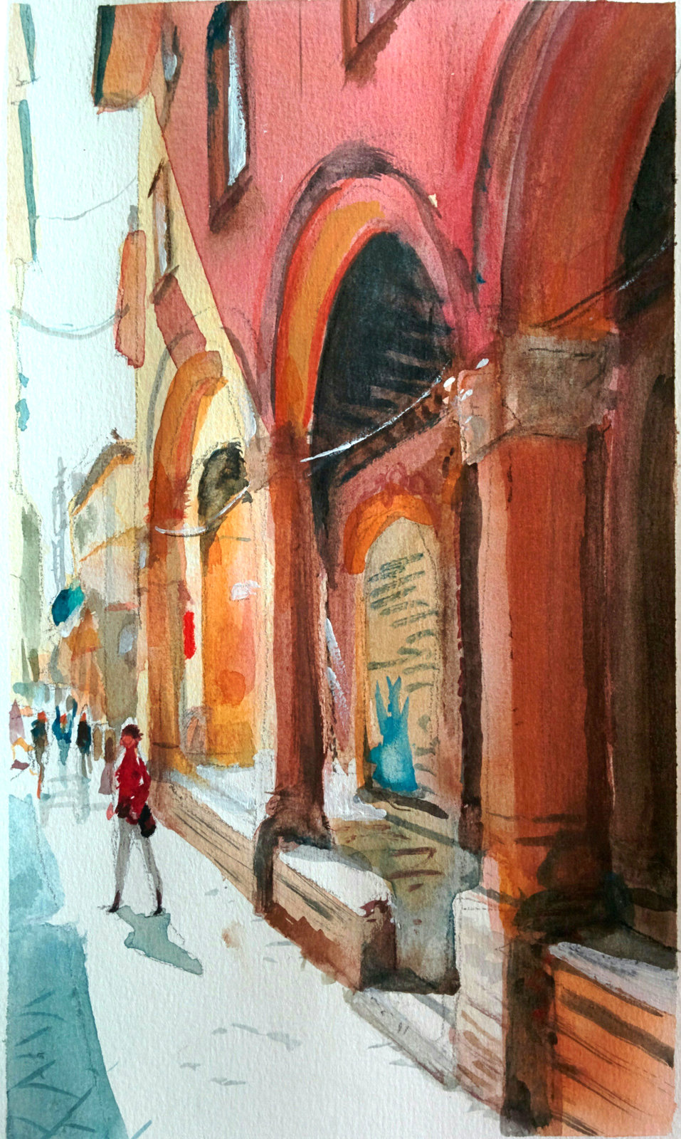 A street in fair Bologna