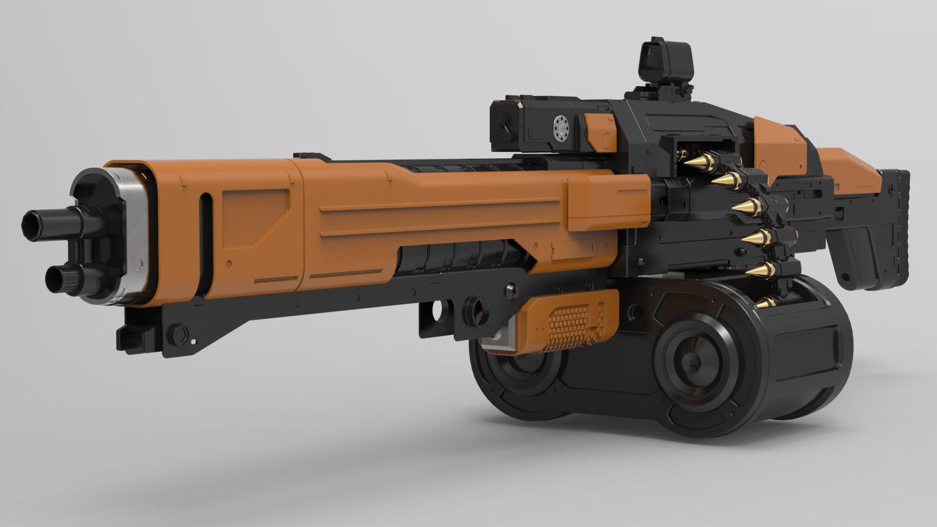 Christian vasquez machinegun render2