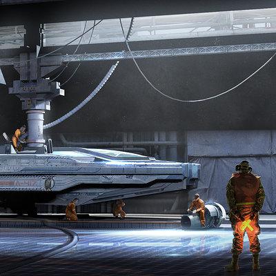 Leonardo calamati ship hangar f