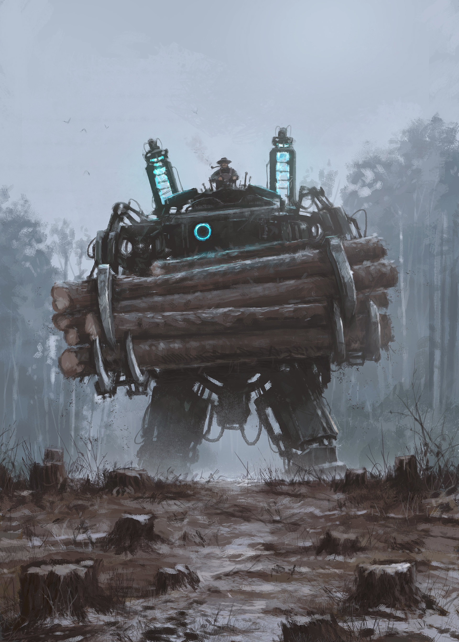 Jakub rozalski factory illustration 03 wwoodcaterls