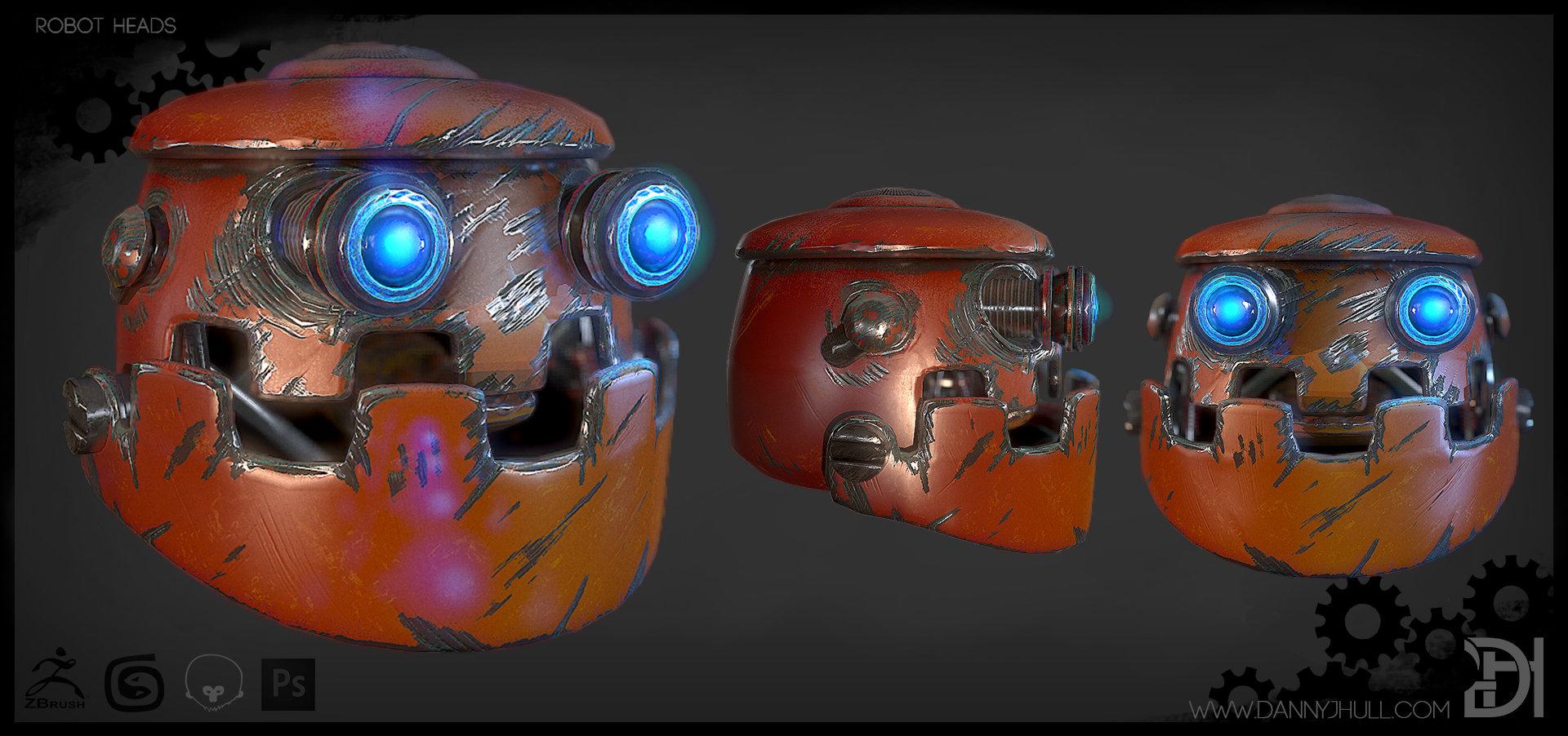 Daniel hull robot heads individual