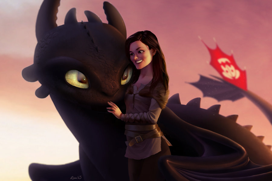 Toothless and woman commission