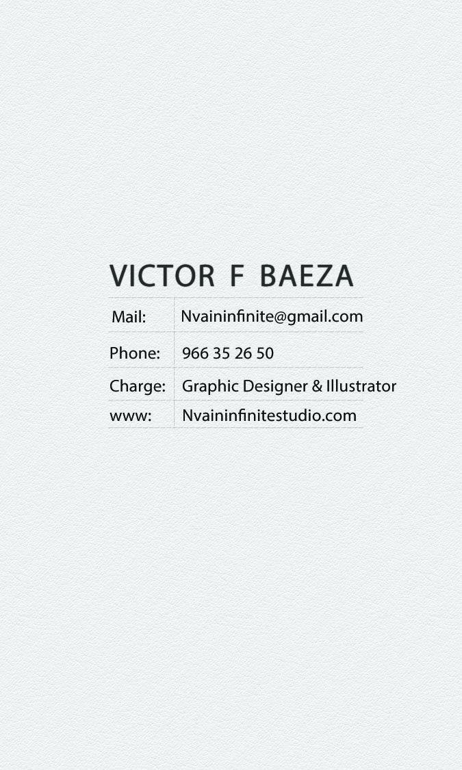 Victor baeza retro business card back nvaininfinitestudio