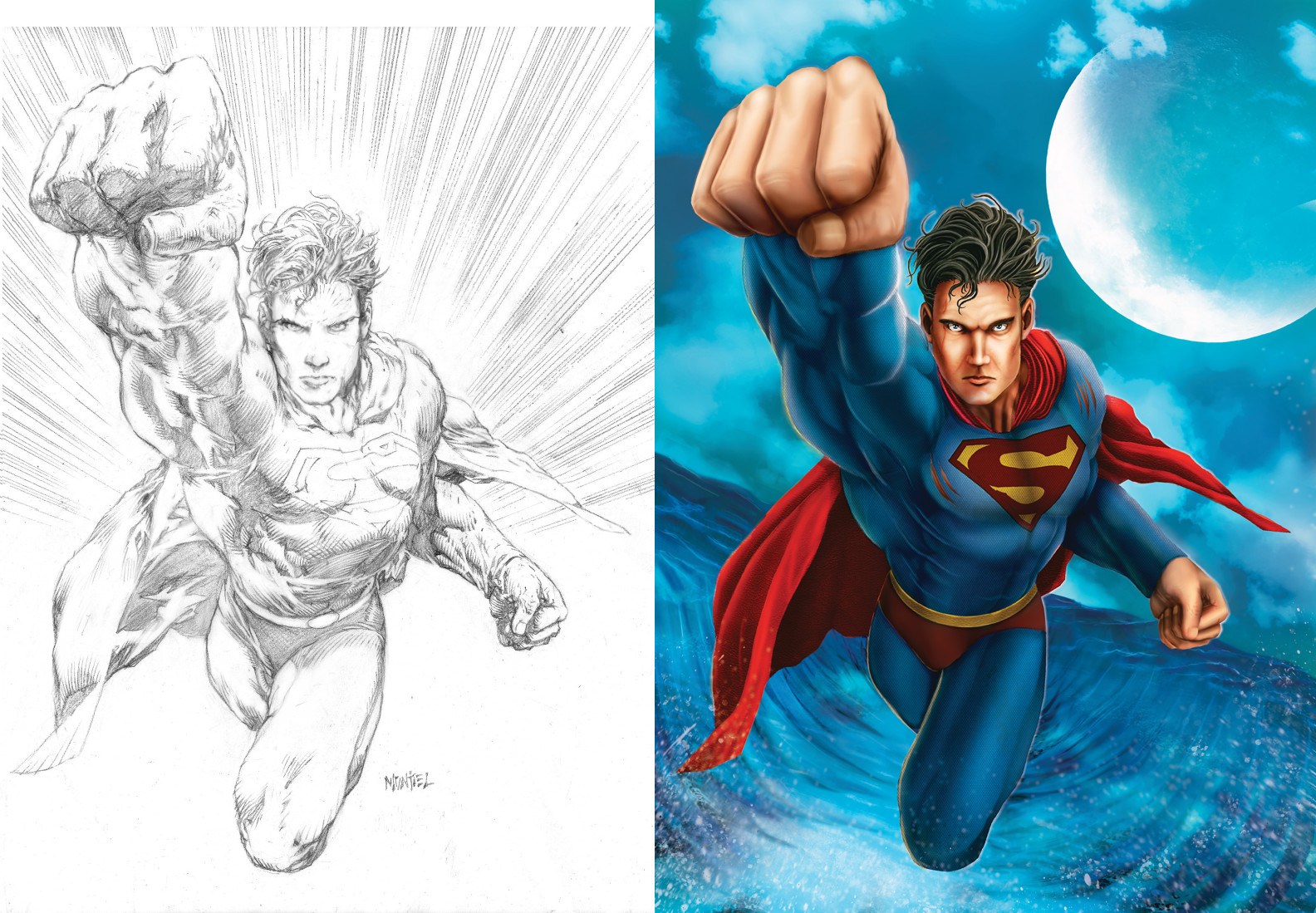 Superman from lines by Martin Montiel.