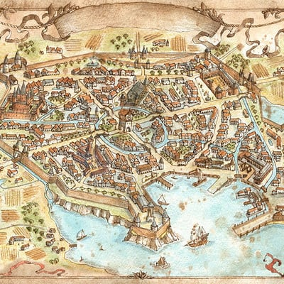 Francesca baerald city map that which sleeps game by francescabaerald d8f2o9n