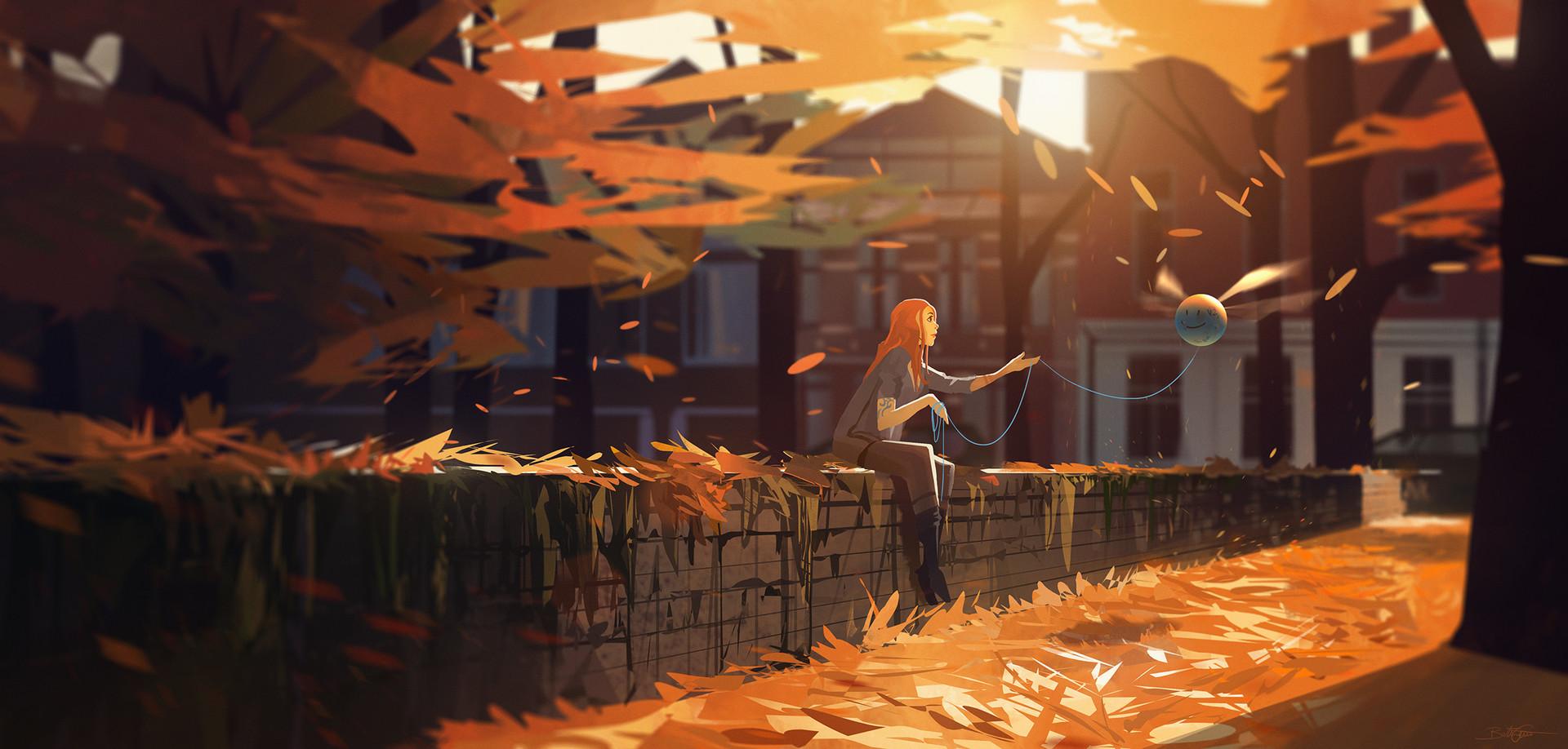 Философия в картинках - Страница 3 Bastien-grivet-autumn