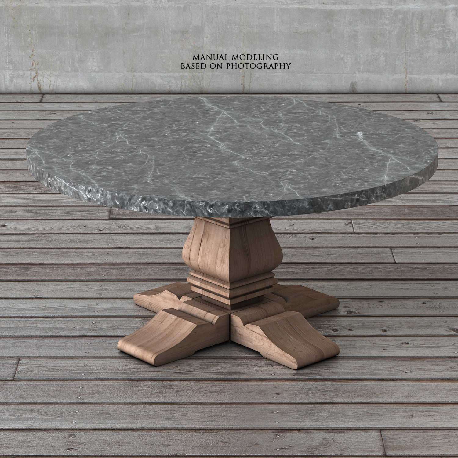 Restoration Hardware Salvaged Wood Marble Trestle Round Dining Table - Restoration hardware marble dining table