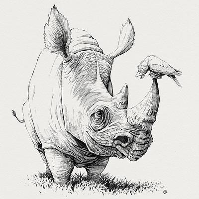 Tomek larek tatende rhino
