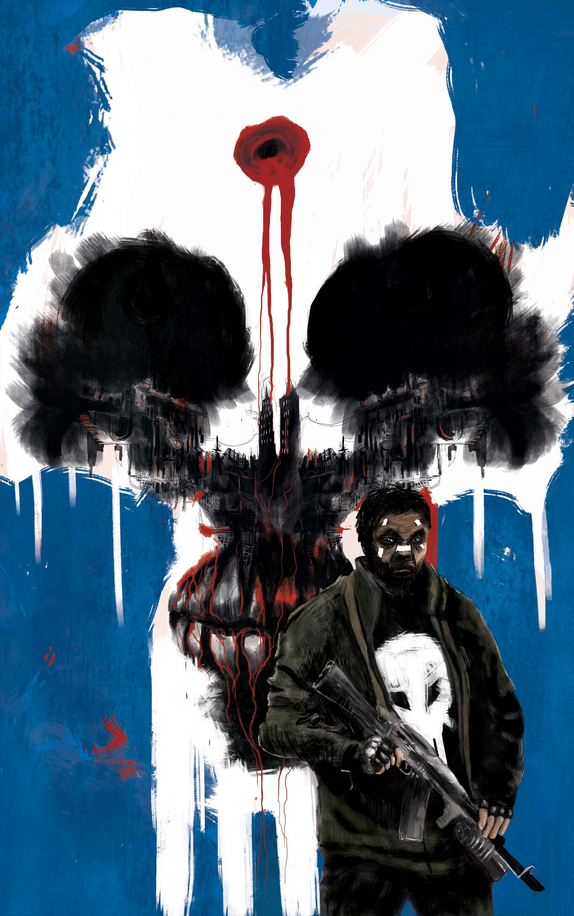 Thierry clary punisher skull blue2