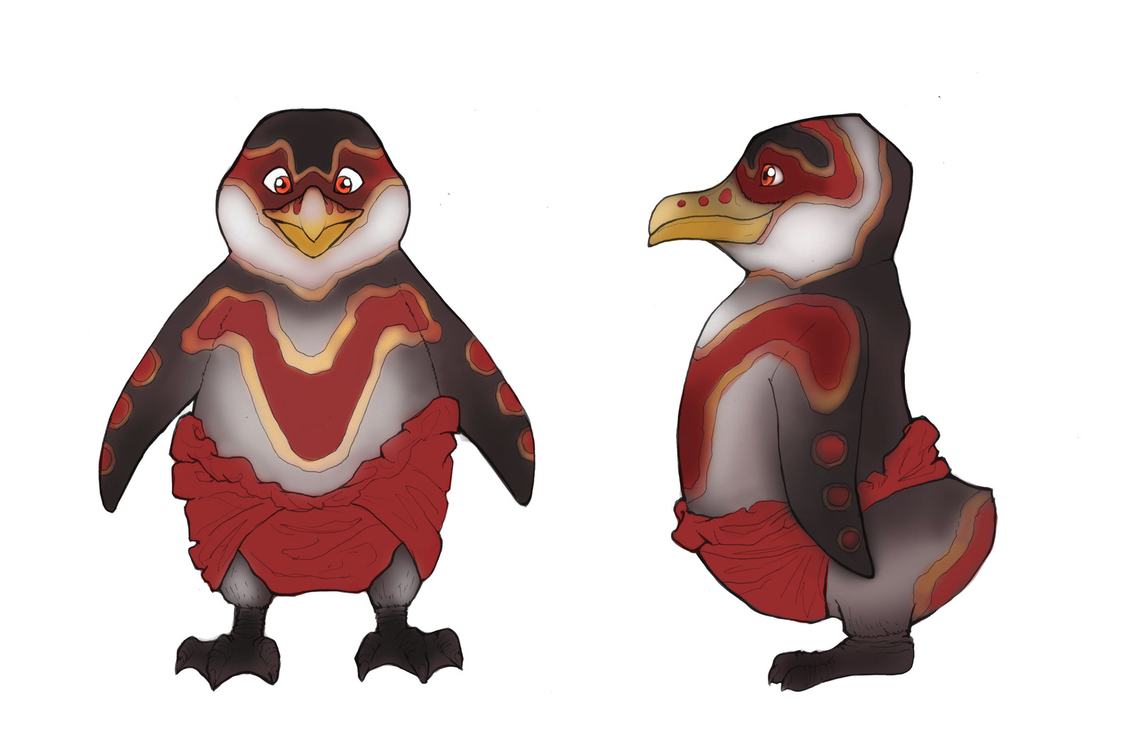 The Jackass Penguin, inspired by the Aboriginal people.