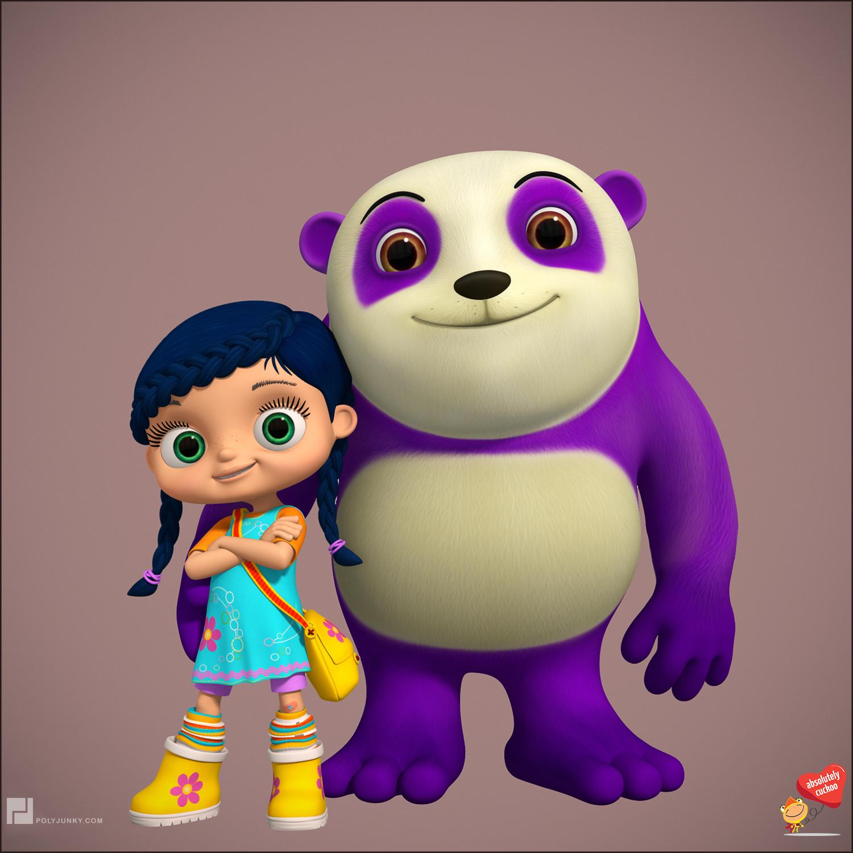 Wissper and Dan the panda.