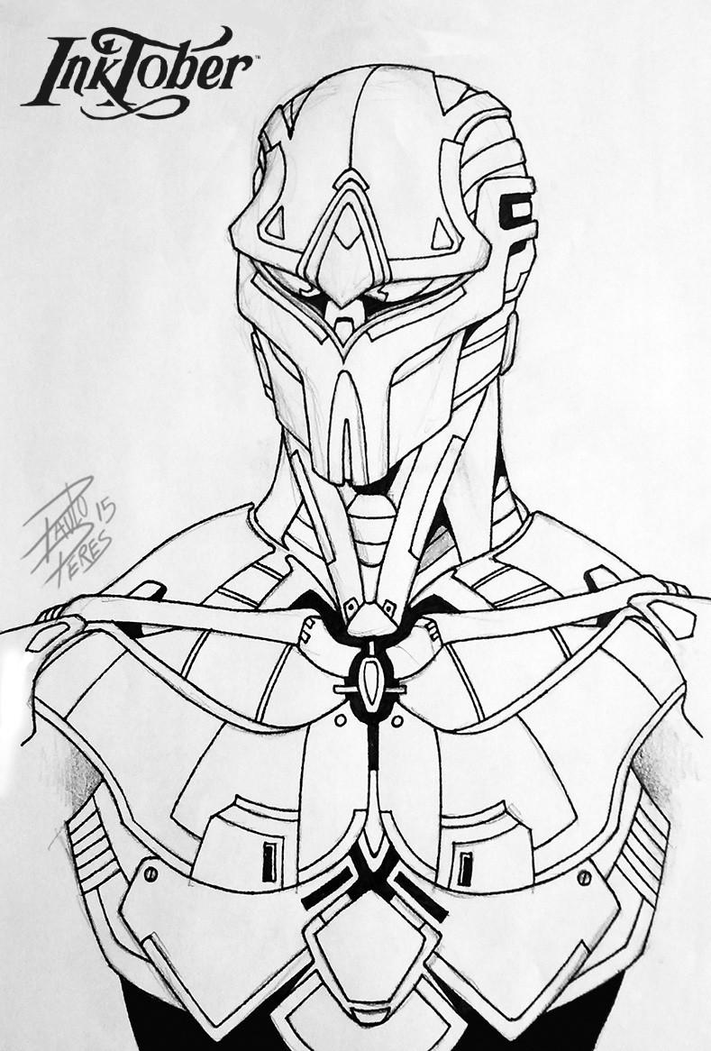Paulo peres armor inktober pauloperes