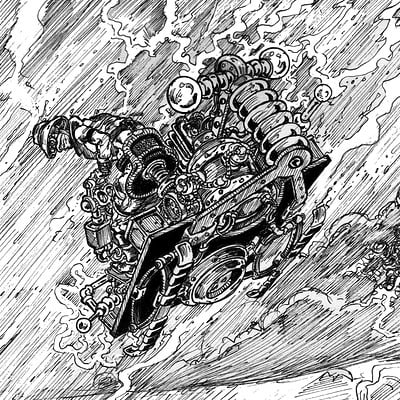Riders Of The Storm-Inktober #09