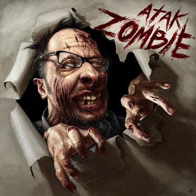 Tomek larek atak zombie digital illustration