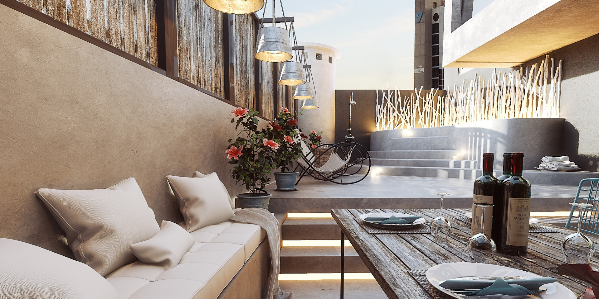 Artstation iviskos terrace 3d visualization george for Boutique hotel 5 rhodes