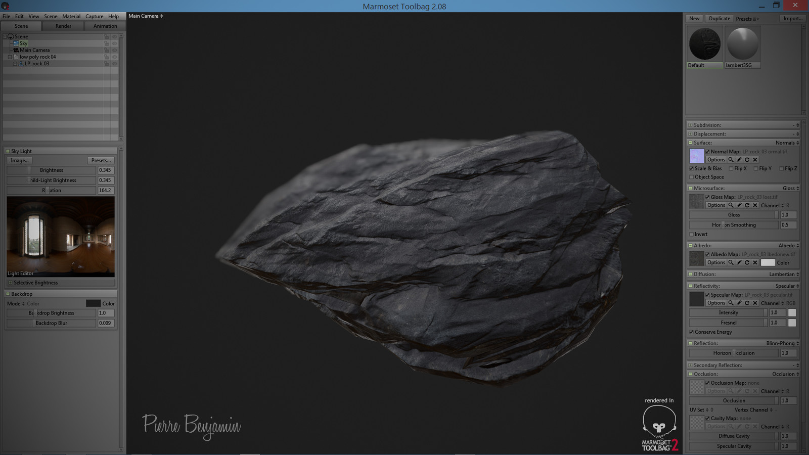 Rocks test WIP Zbrush/ Marmoset 2