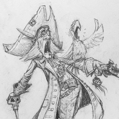 Tomek larek pirat szkic 2