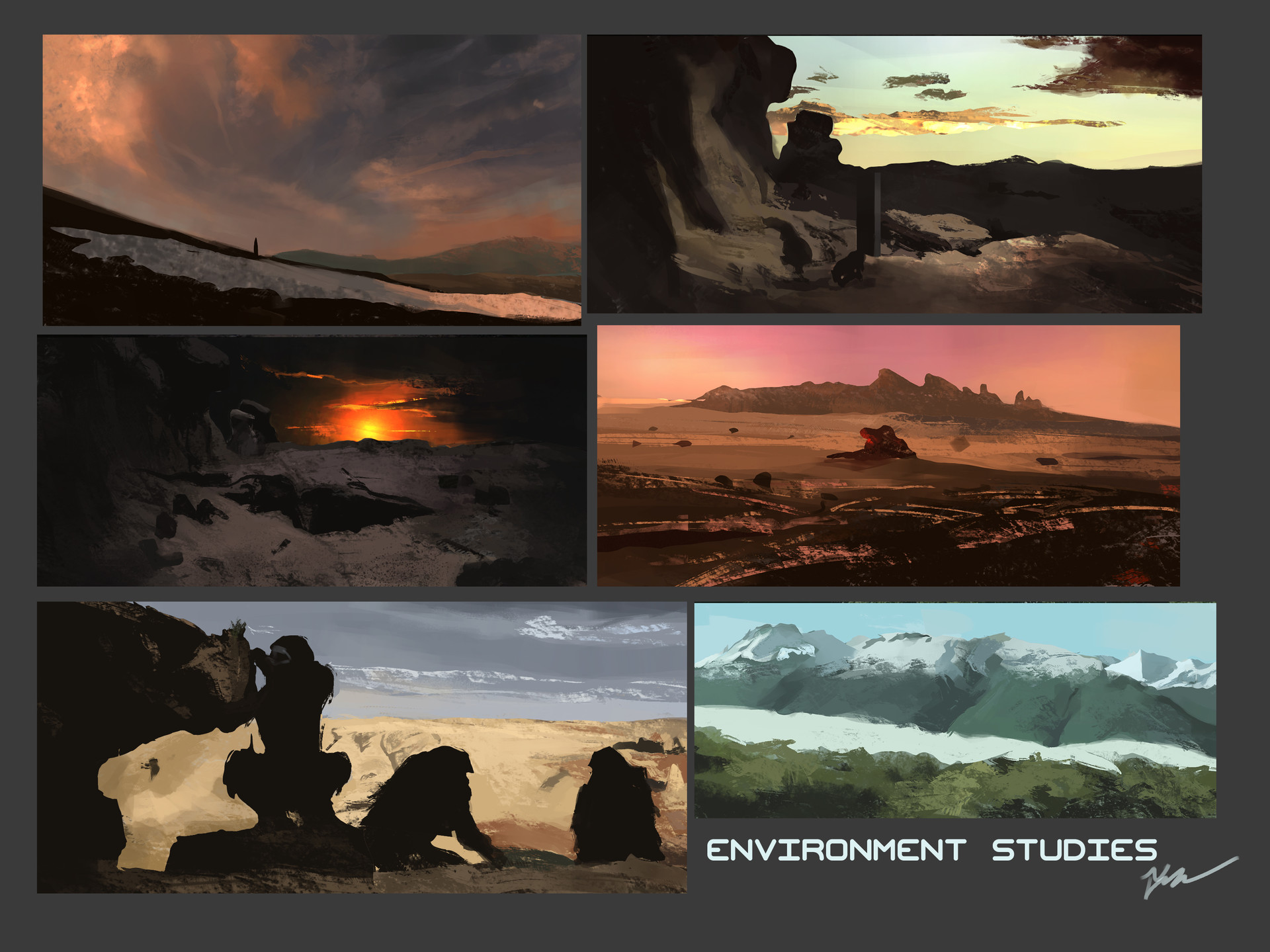 Temarius walker environment studies 01