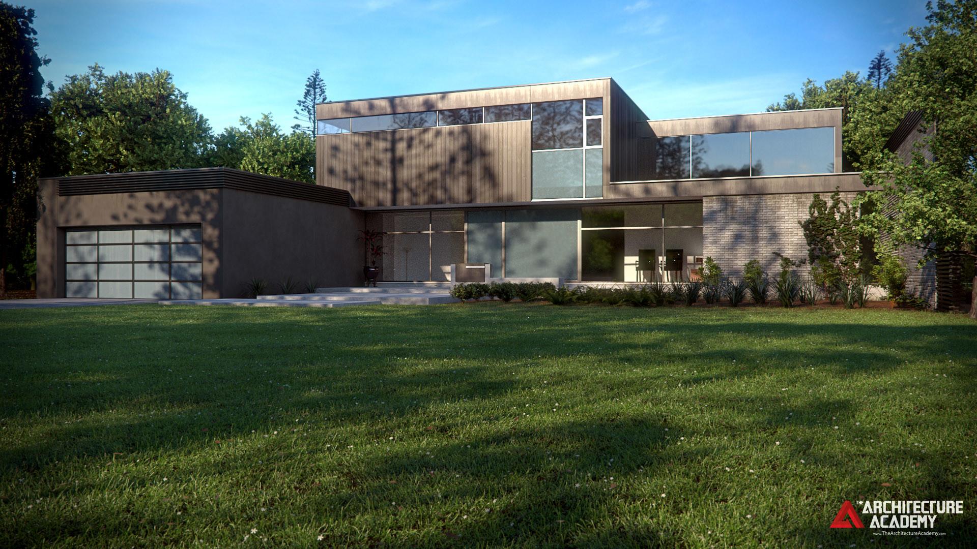 Artstation modern house andrew price for Modern house price