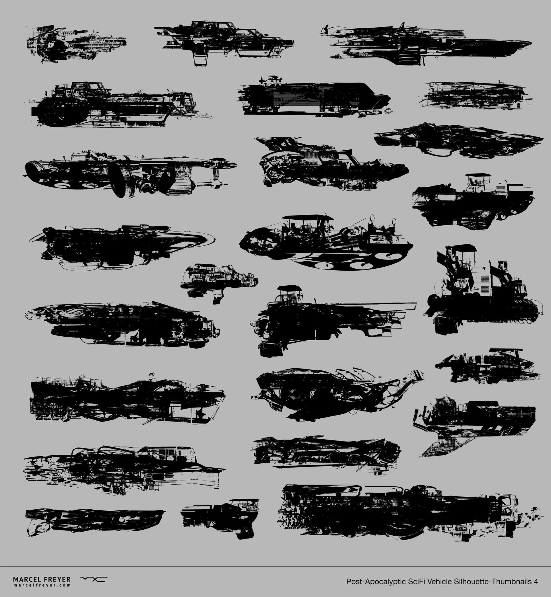 Marcel Freyer Post Apocalyptic Scifi Vehicles Wip