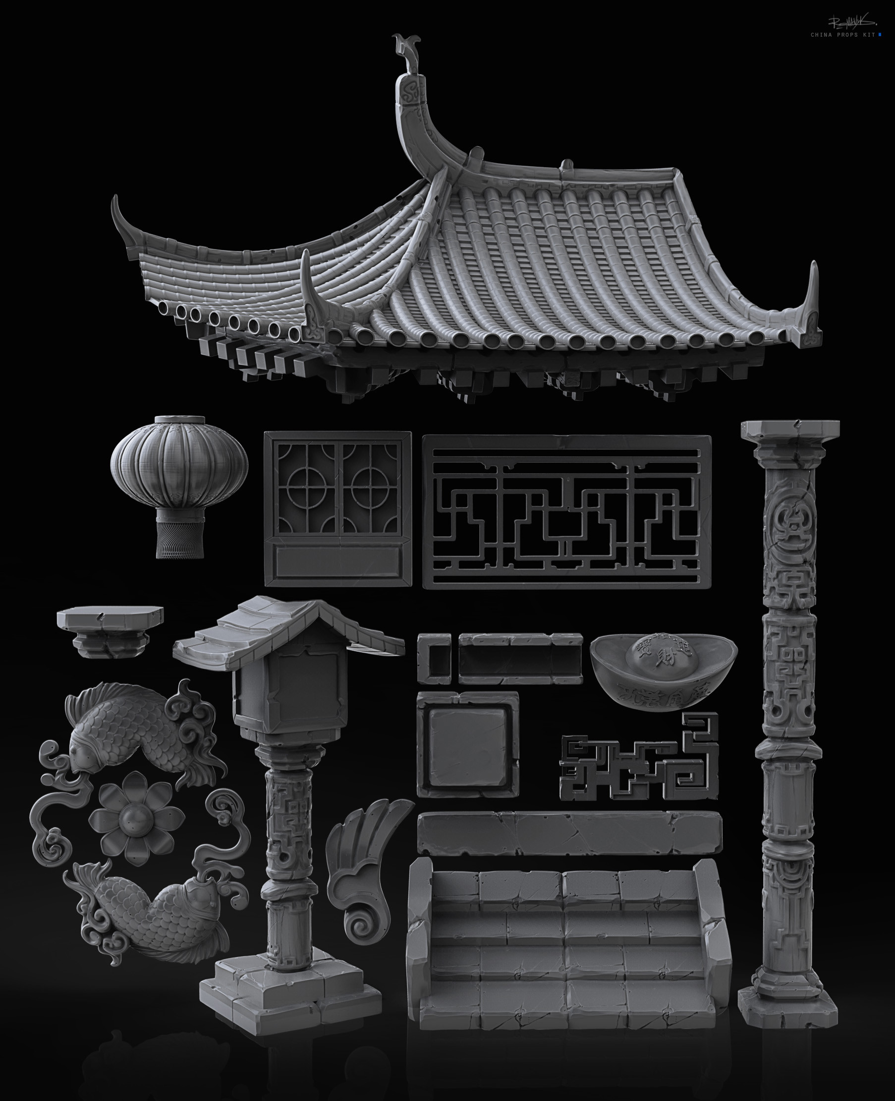 Chinese props kit