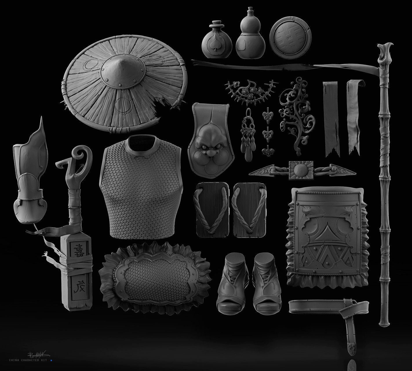 Yuriy romanyk china character kit