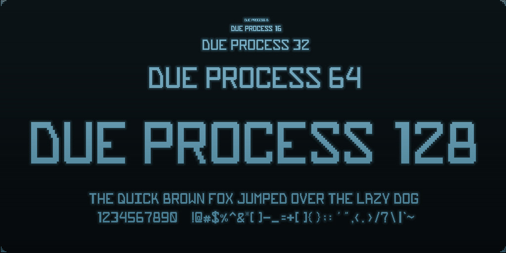 Ben bickle dueprocess font preview