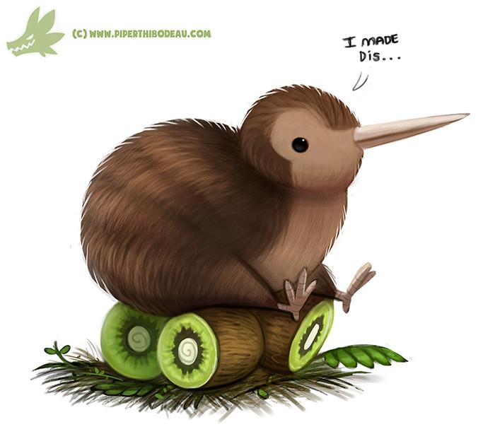 ArtStation - Daily Paint #1060. Kiwi Bird, Piper Thibodeau