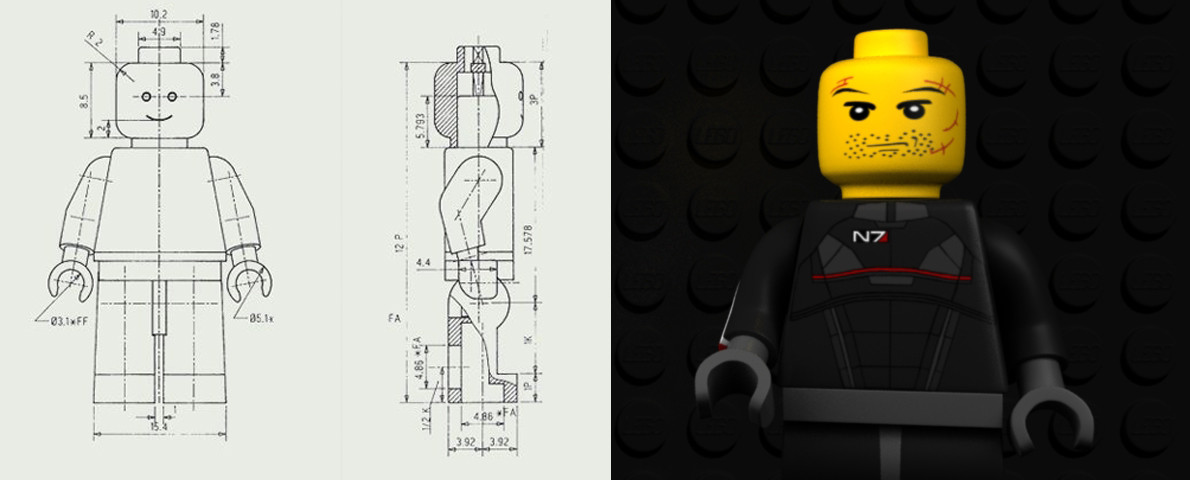 ArtStation - N7 Lego Man, Cameron Middleditch