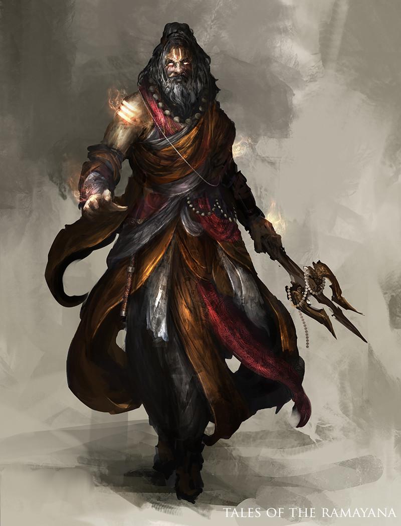 Character Design Hanuman : Artstation tales of the ramayana priest daniel kamarudin