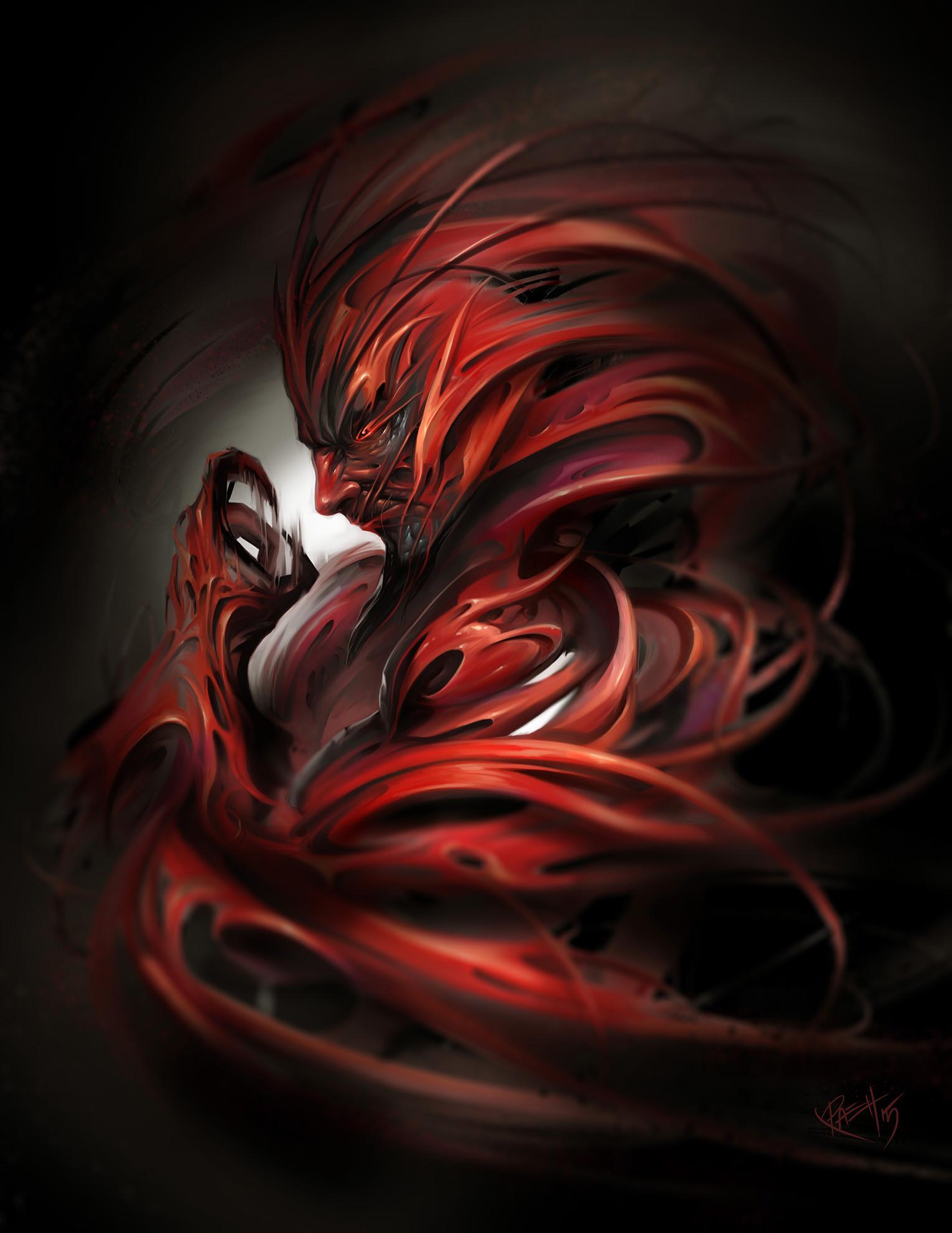 Картинки черно красные демонов
