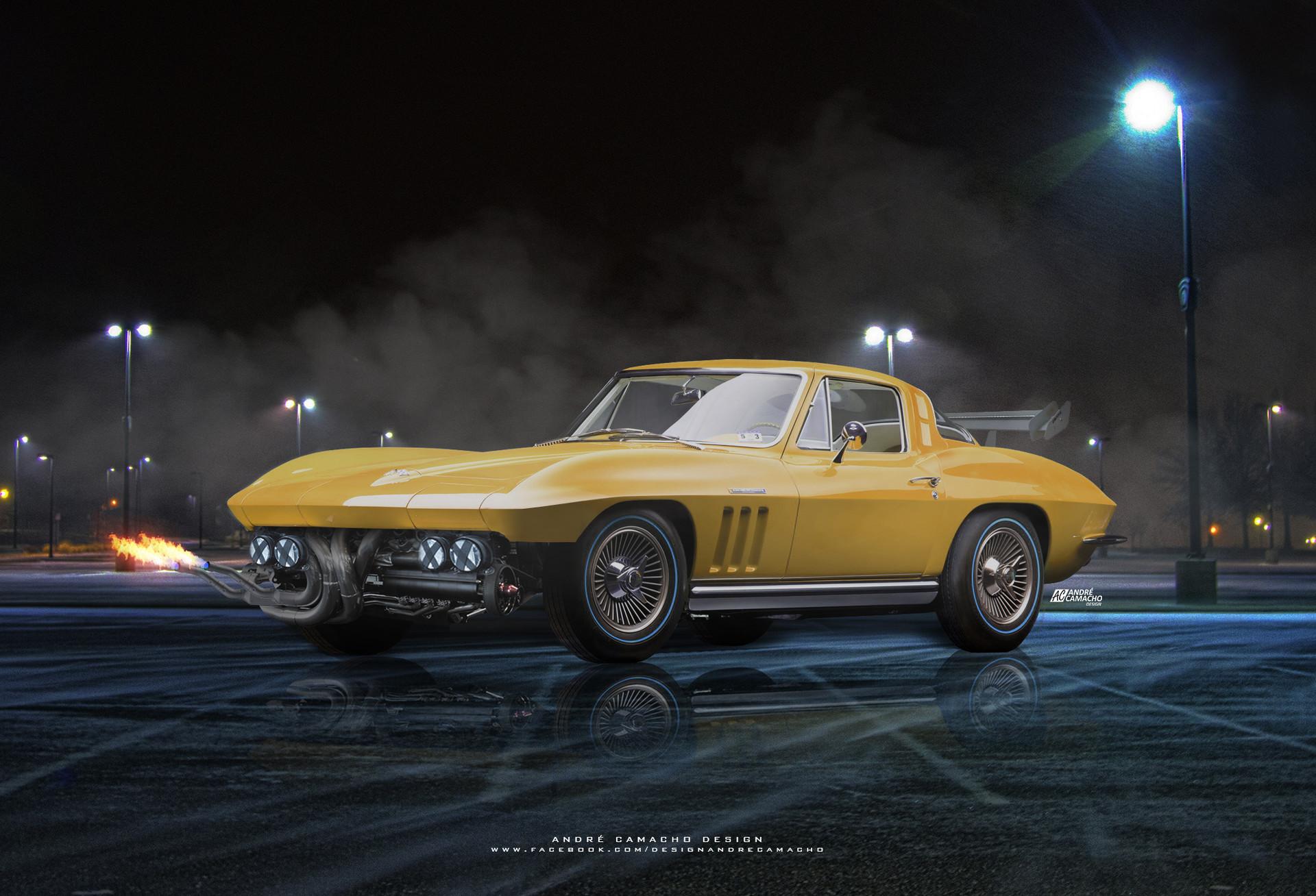 Andre camacho design 1965 chevrolet corvette