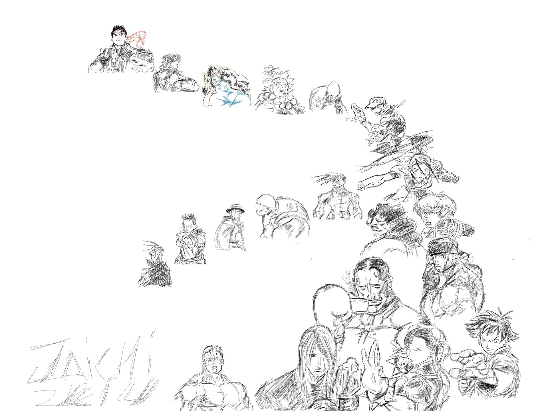 Artstation Street Fighter 3rd Strike Cast 3 Jaefus Morrow