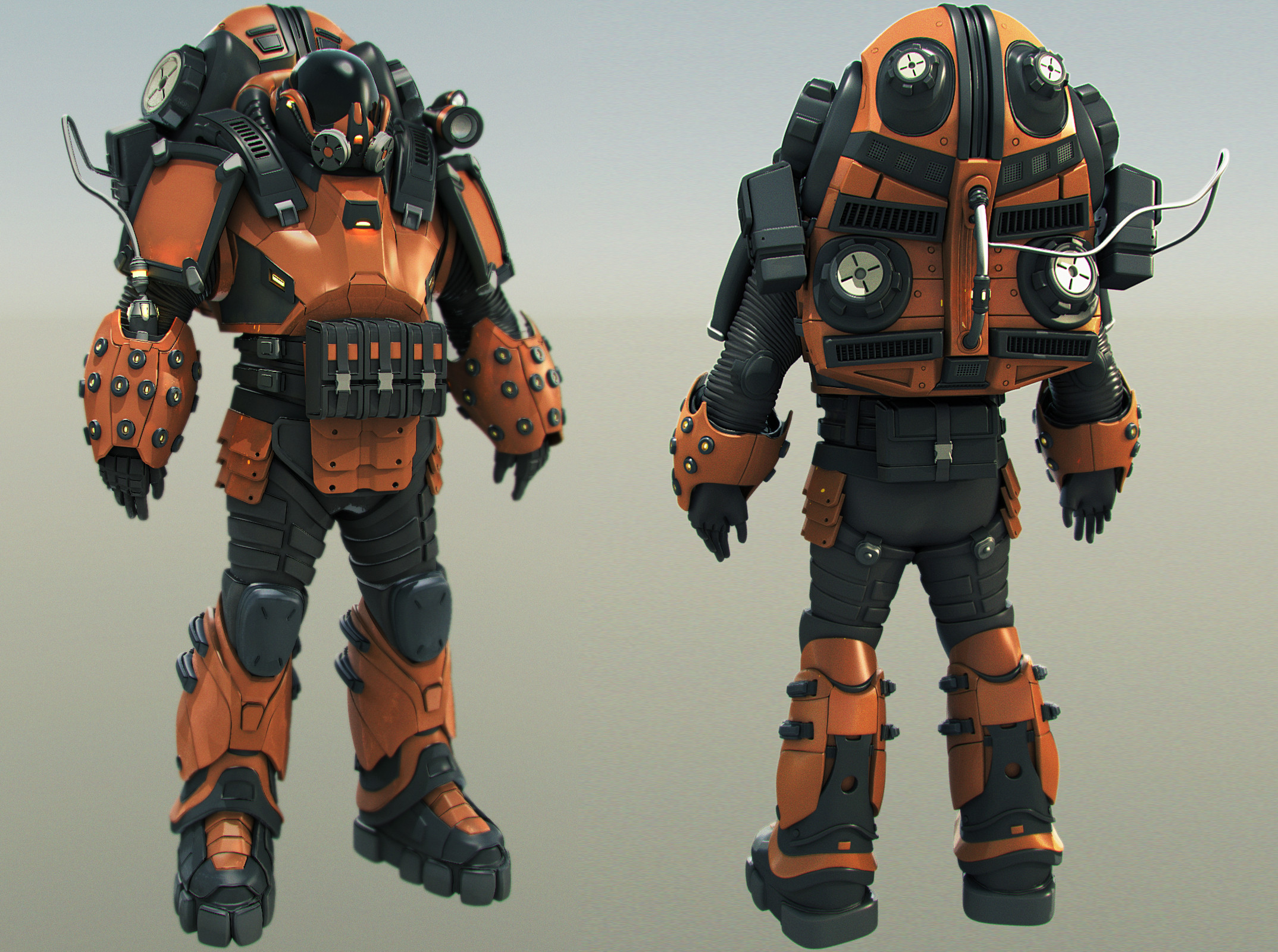 Sci-fi Character WIP: High Poly