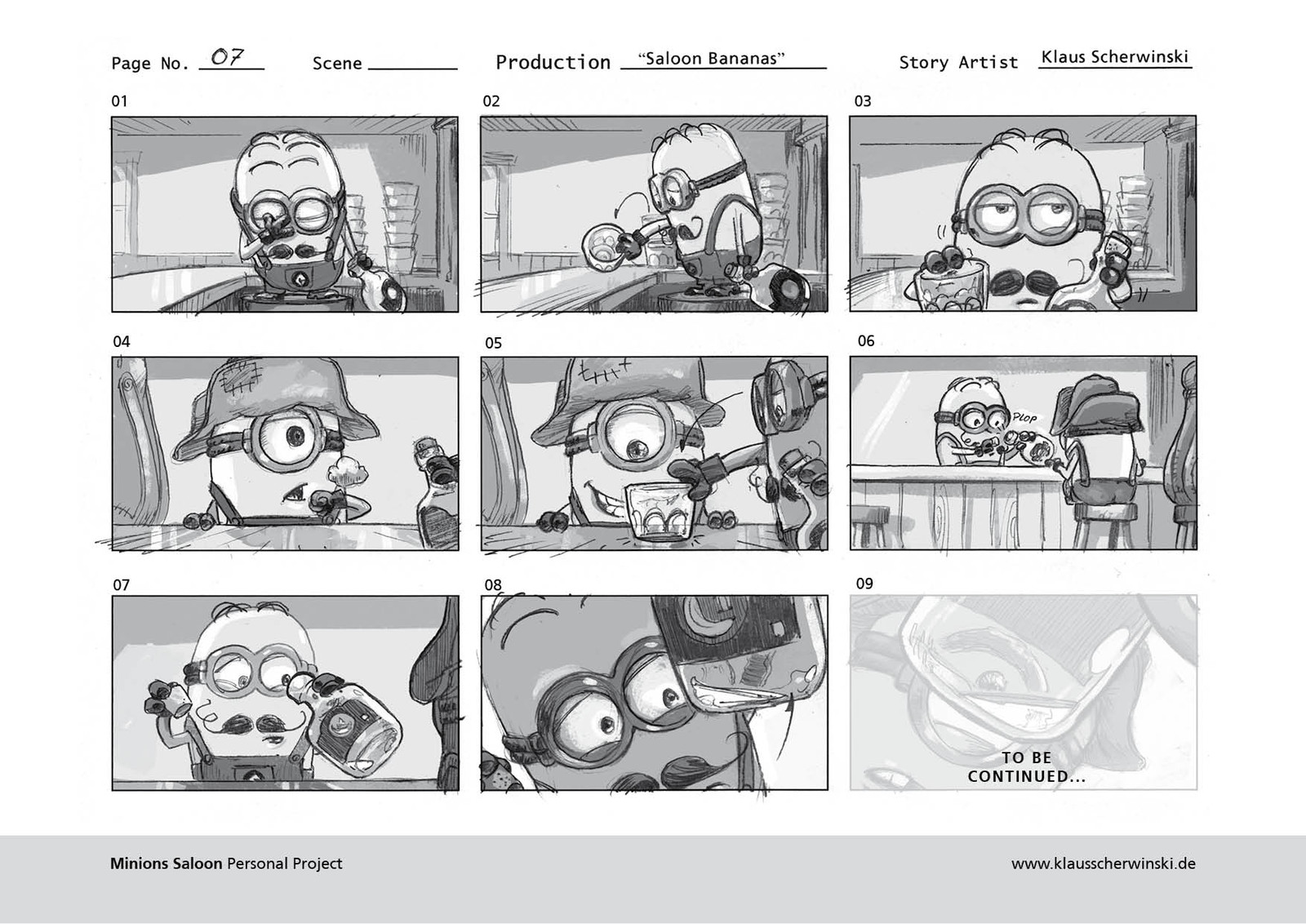 This completes ca. 50% of the story. The rest exists only as a rough storyboard so far - check it our here: https://www.artstation.com/artwork/Zd2E0