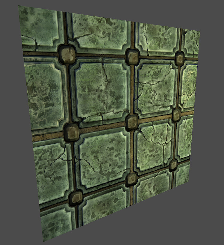 Teal Green Floor Tile