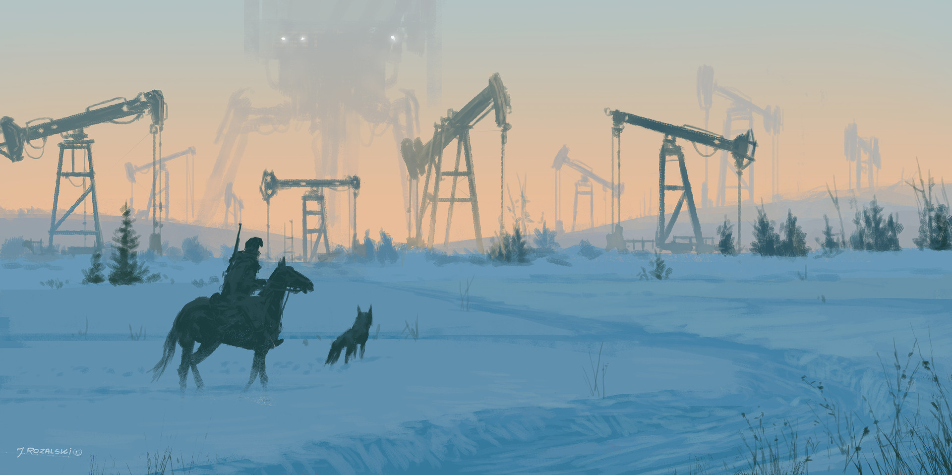 Jakub rozalski iron fields