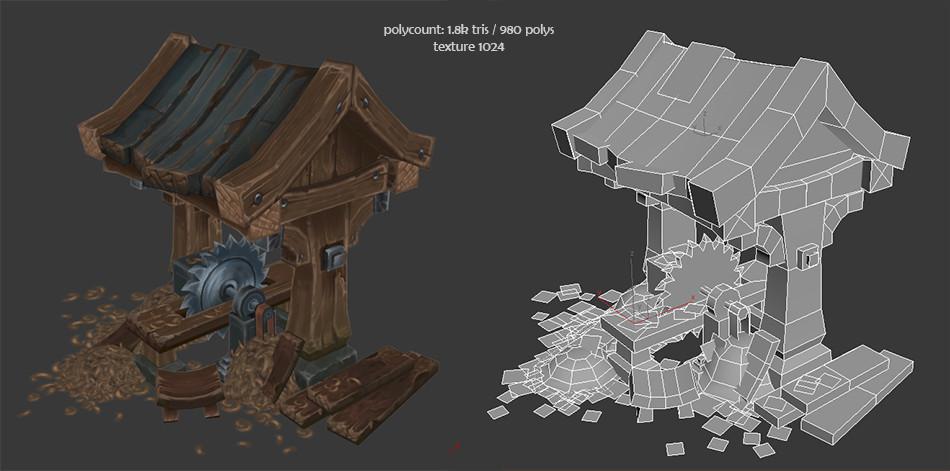 ArtStation - mini lumber mill, Antonio Neves
