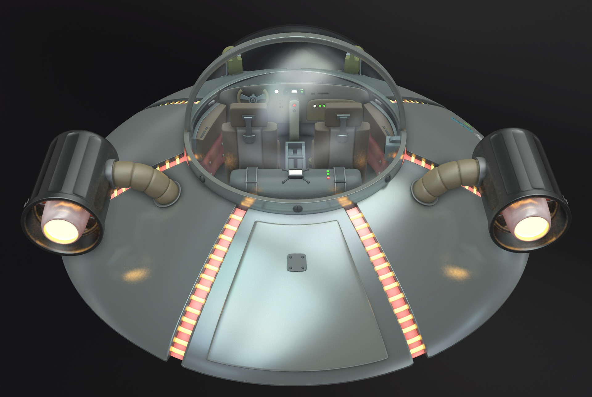 ArtStation - Rick and Morty flying saucer, Giuliano Grassi