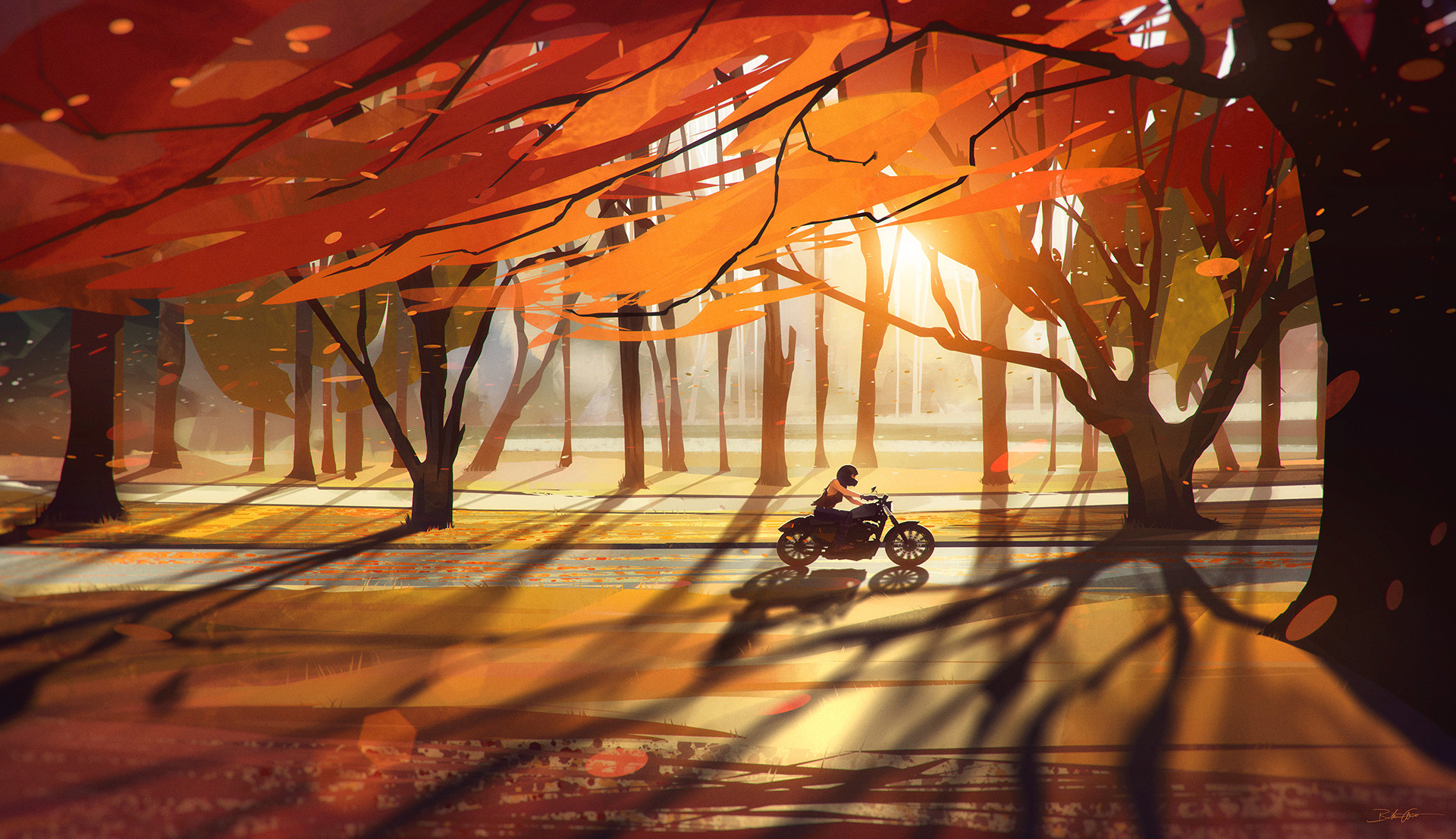 Bastien grivet autumn countryside