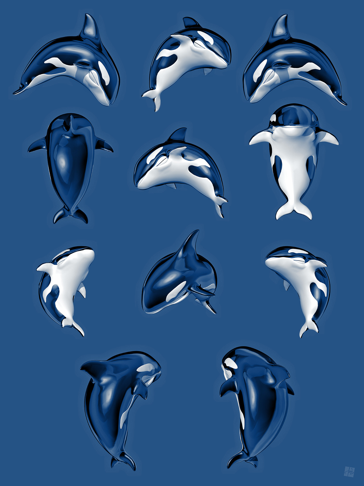 Tomislav zvonaric killer whale model preview