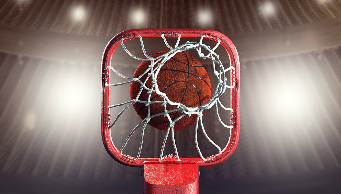 Tomislav zvonaric basketball rim 3d icon hall scene