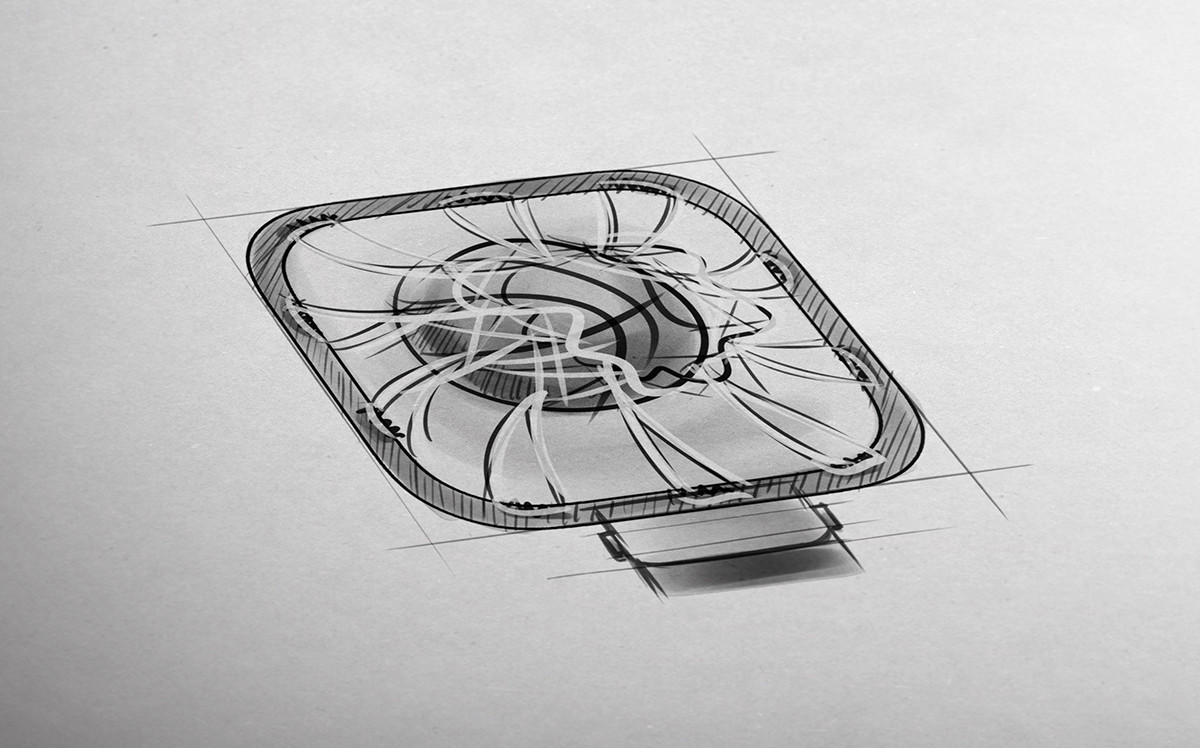 Tomislav zvonaric basketball 3d icon sketch