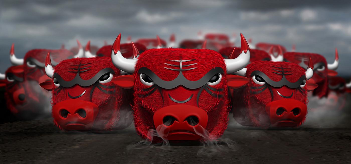 Tomislav zvonaric bulls ios icon running bulls scene