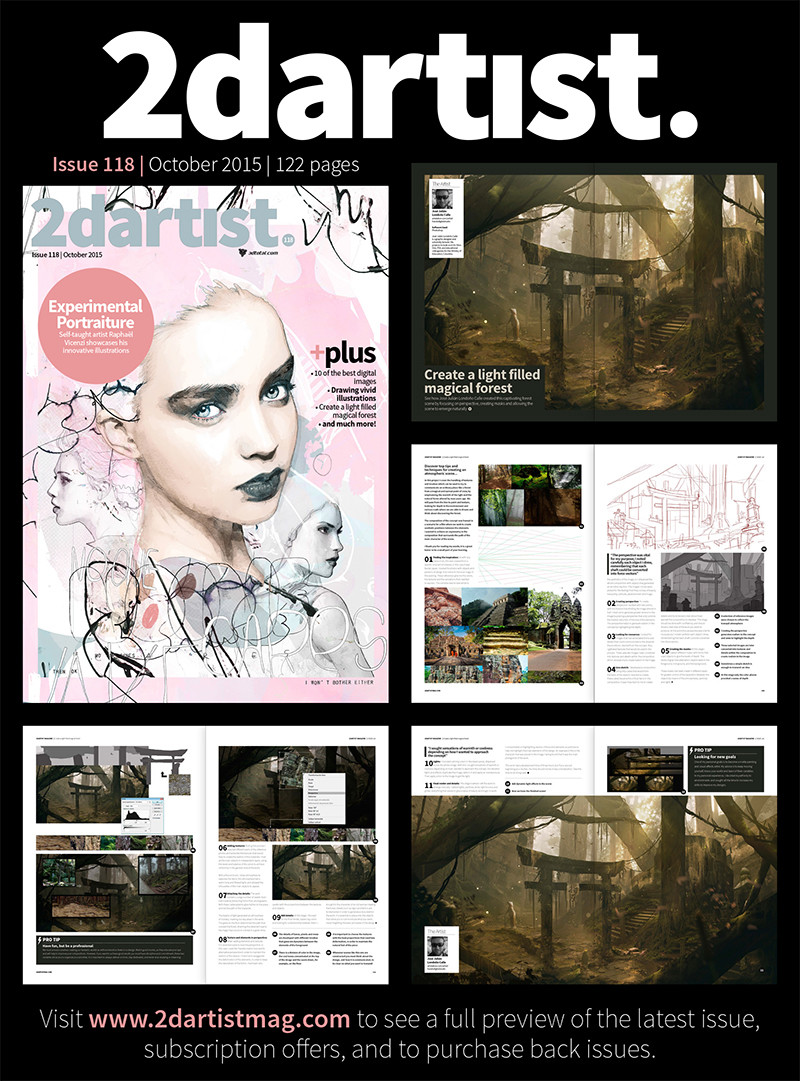 2dartist magazine # 118.Magical forest.