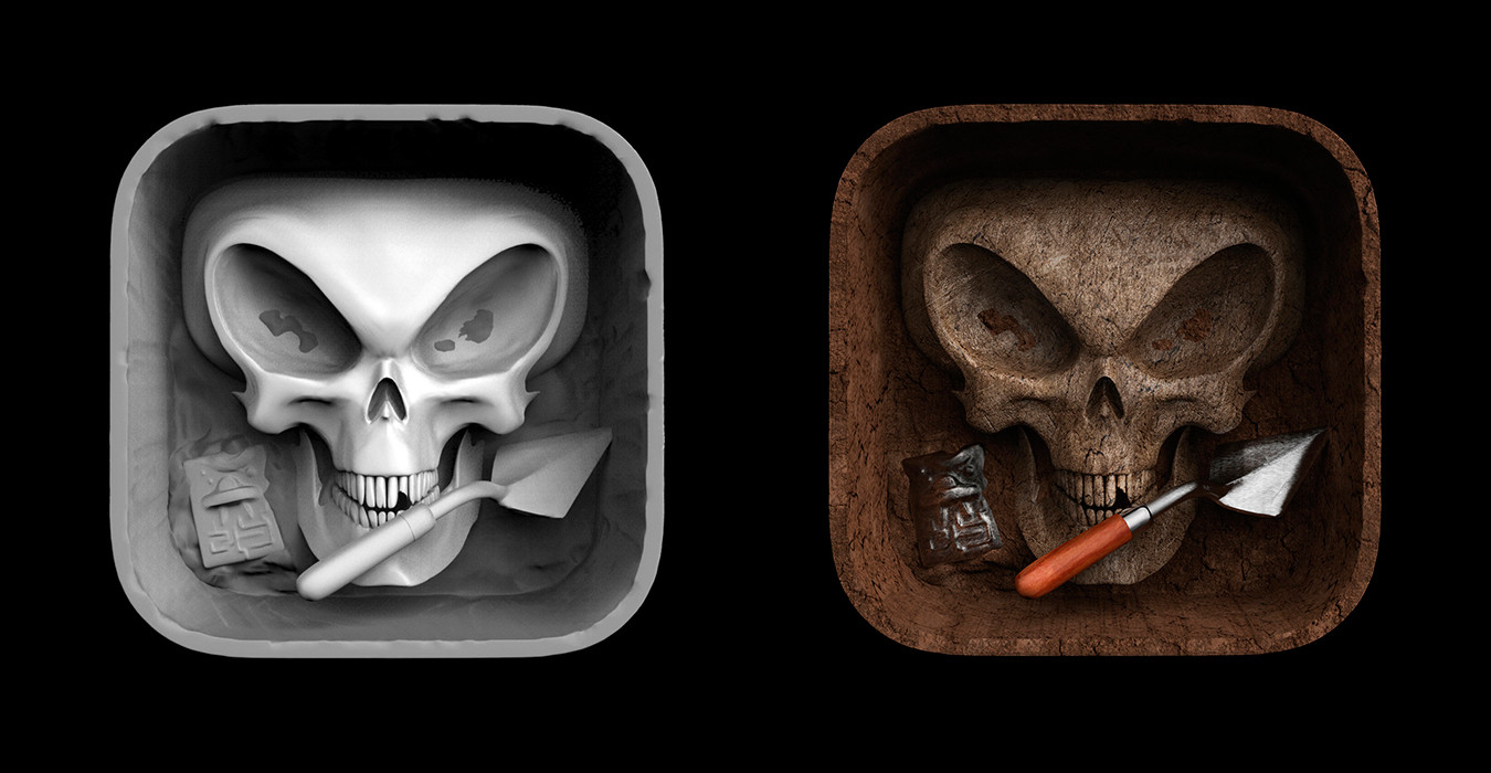 Tomislav zvonaric forbidden archeology icon 3d model and final icon