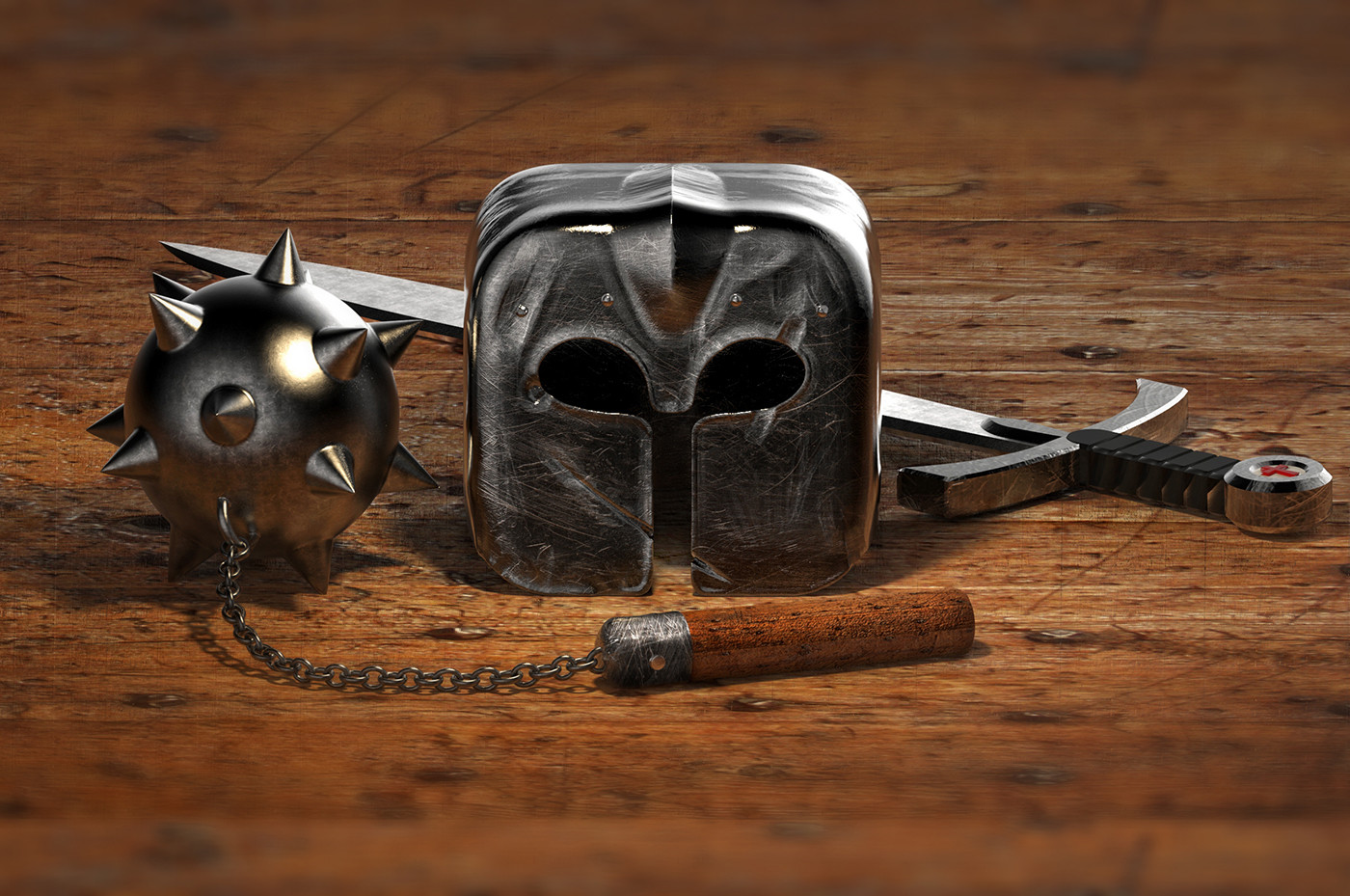 Tomislav zvonaric knight helmet scene